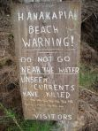 Sign in Hanakapiai Beach